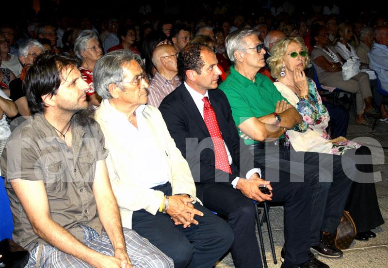 Loretta Goggi negli scorsi giorni in città per l'apertura del festival Bandalarga