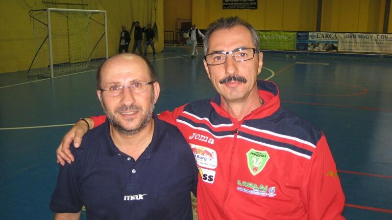Virtus_Monopoli_mister_Nicola_DAlessandro_e_il_responsabile_della_prima_squadra_Martino_Tropiano_