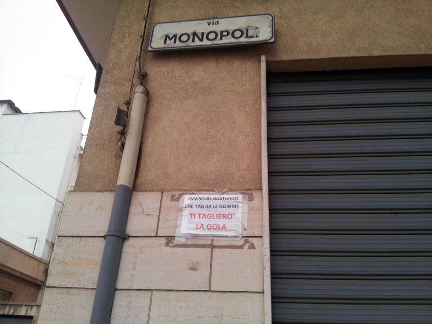 avvertimento via monopoli