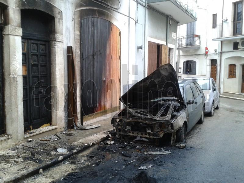 Auto e case incendiate via dannunzio mola marchiata