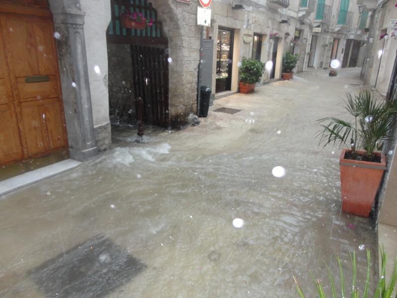pioggia via Porto