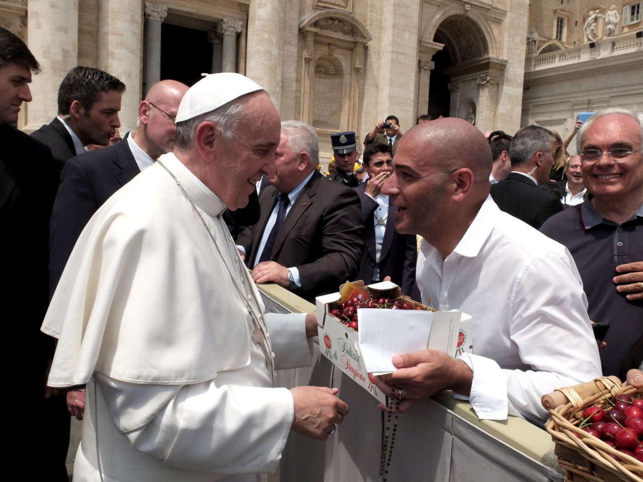 Natalino Ventrella con Papa Francesco