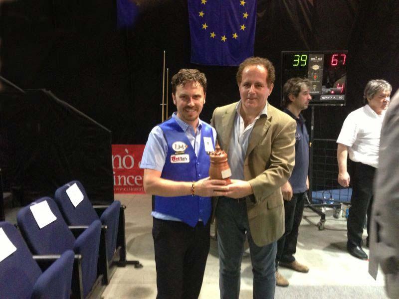 Aniello premiato a Saint Vincent campionato italiano web