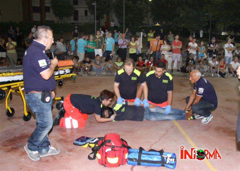 26 luglio - oratorio di San Domenico - simulazione di 1 soccorso - rangers e vivi la strada 8