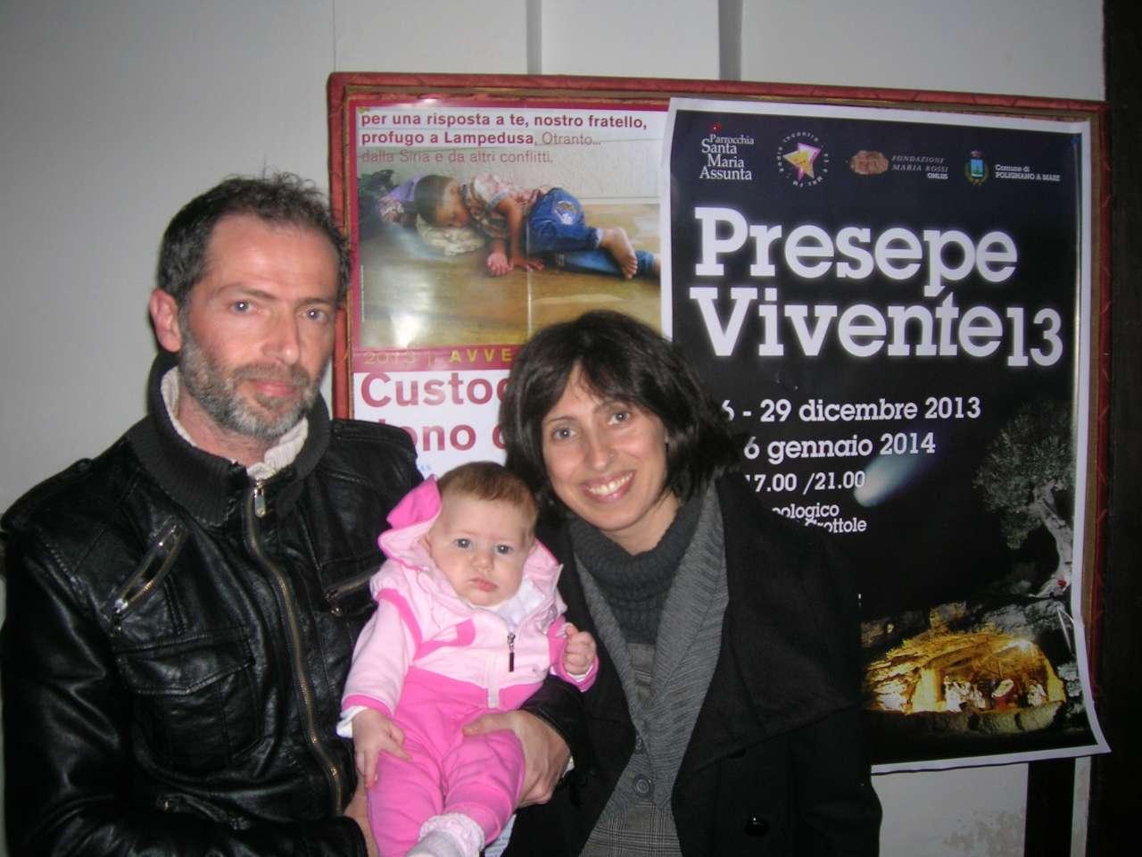 Francesco e Marica Colacicco e piccola Alice