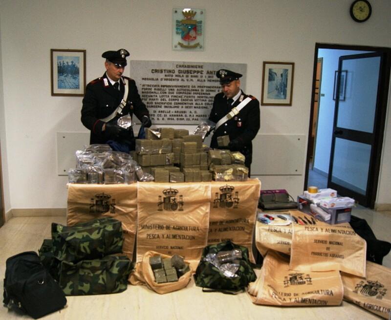 arresto Mola-155kg droga