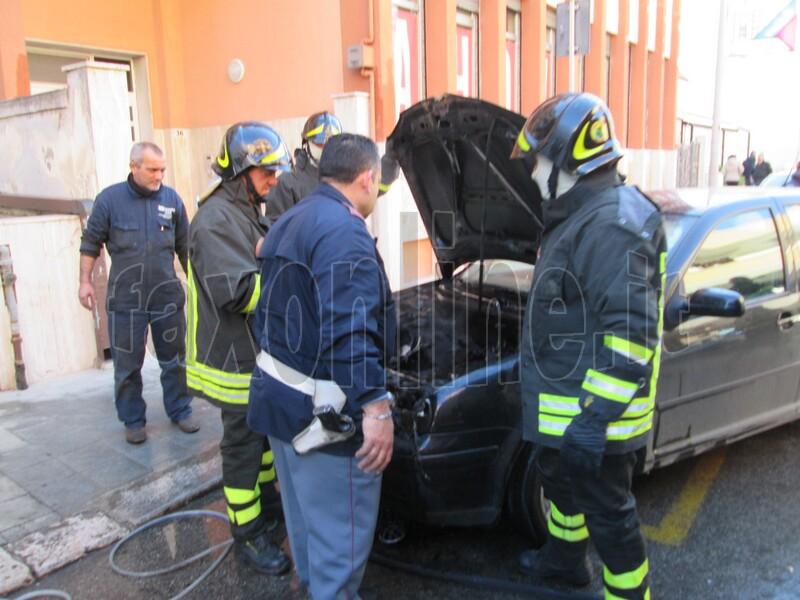 auto in fiamme-via lepanto 2