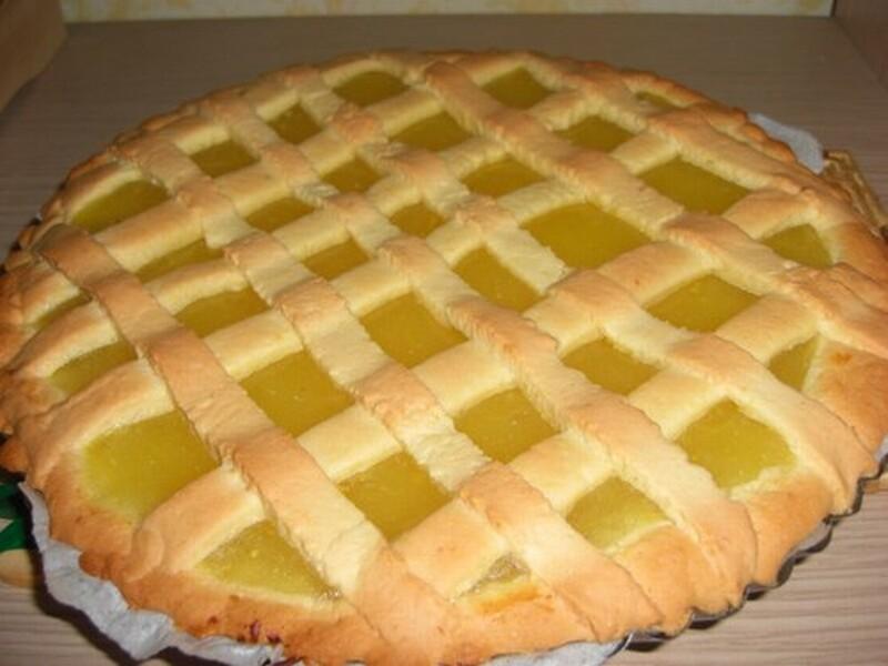 crostata alla crema di limone
