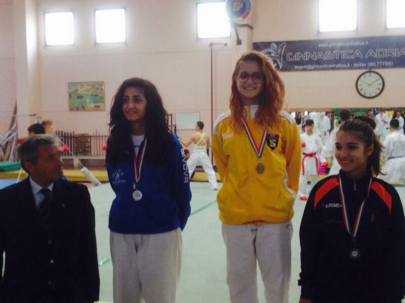 il podio con Anna Maggipinto al primo posto