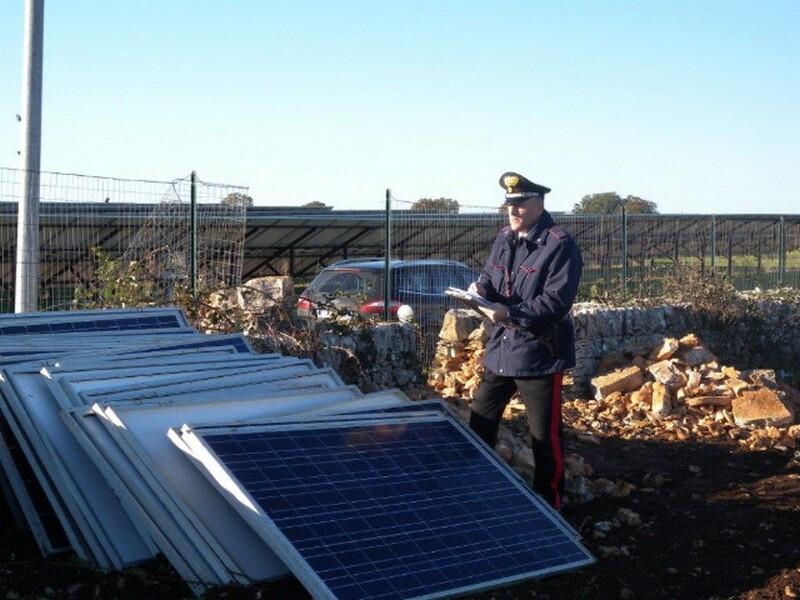 sventato furto pannelli fotovoltaici
