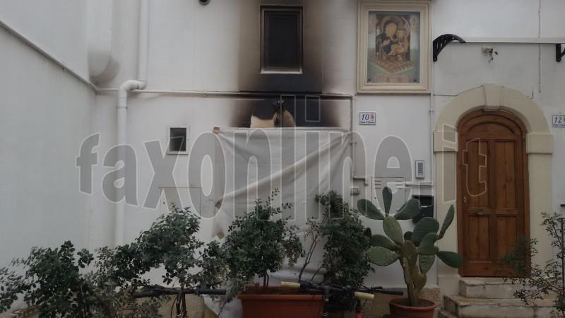 incendio largo San Giovanni