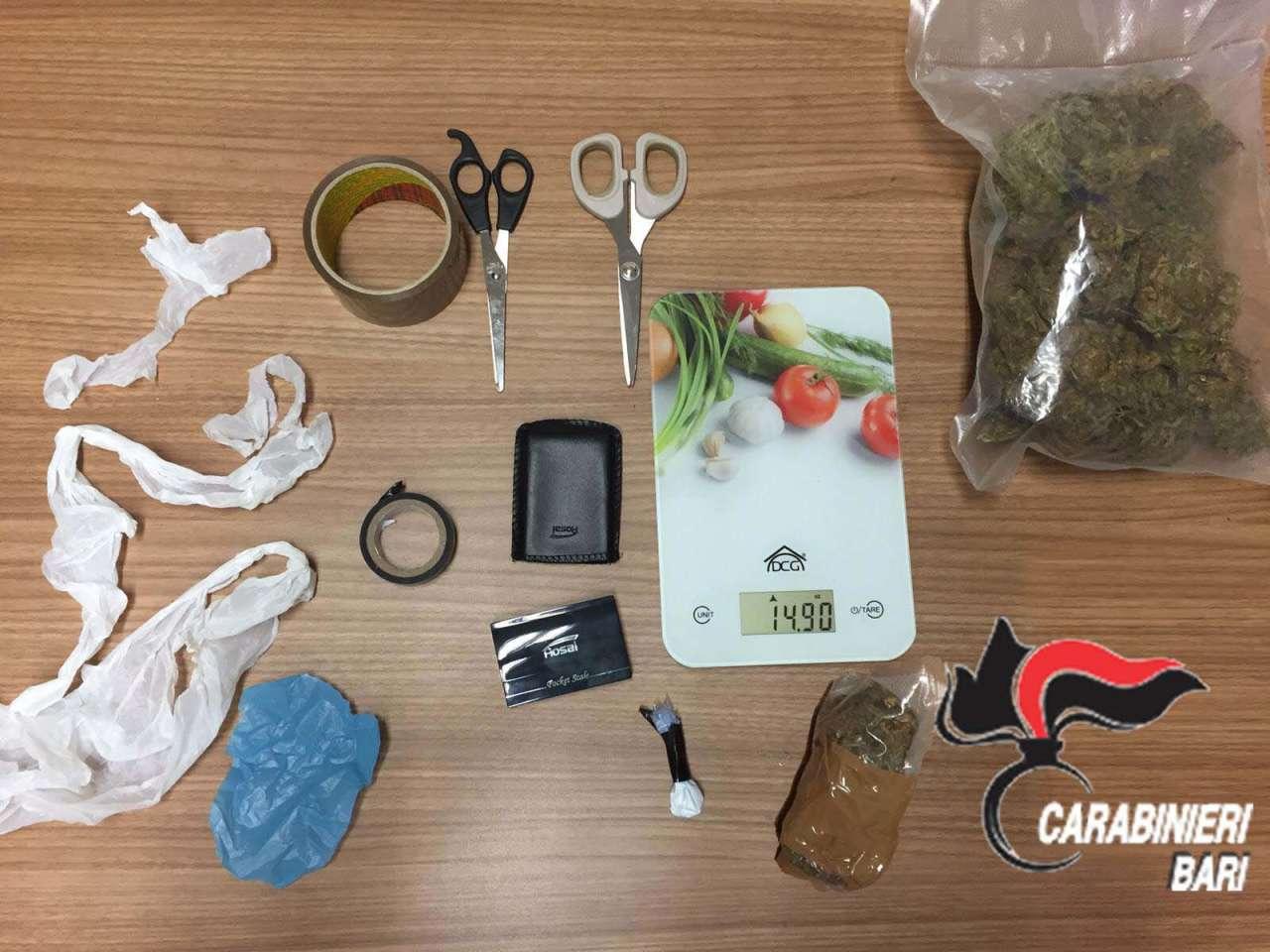 Droga arrestato commerciante