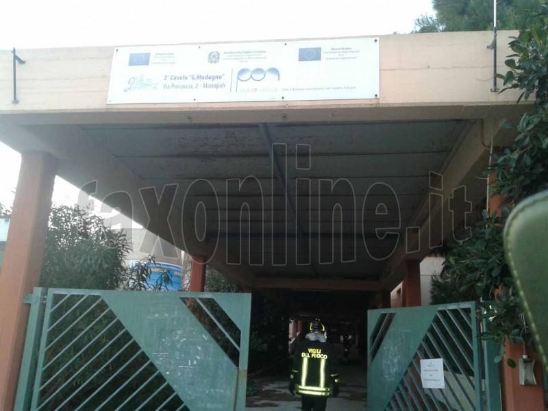 incendio ex scuola Modugno MON