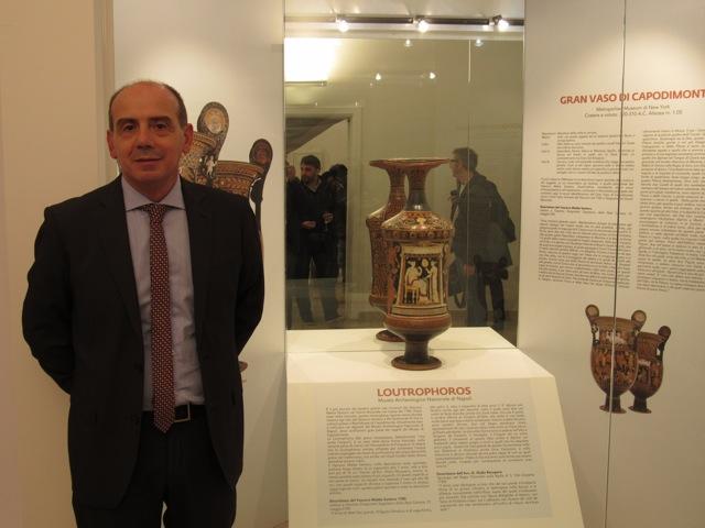 Giuseppe Maiellaro e vaso