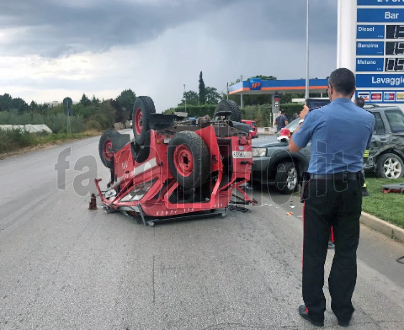 incidente camionetta 115